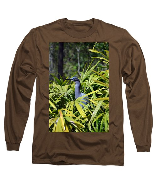 Long Sleeve T-Shirt featuring the photograph Little Blue Heron by Robert Meanor