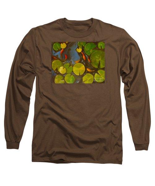 Little Fish Koi Goldfish Pond Long Sleeve T-Shirt