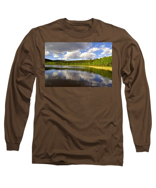 Long Sleeve T-Shirt featuring the photograph Little Lost Lake by Cathy Mahnke
