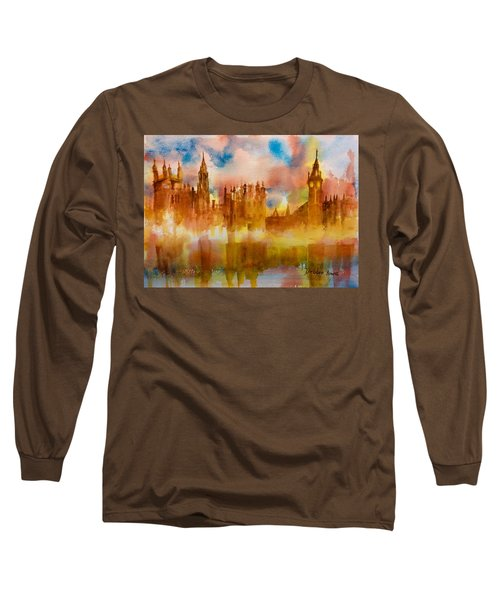 London Rising Long Sleeve T-Shirt by Debbie Lewis