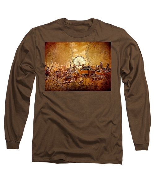 London Skyline Old Vintage  Long Sleeve T-Shirt