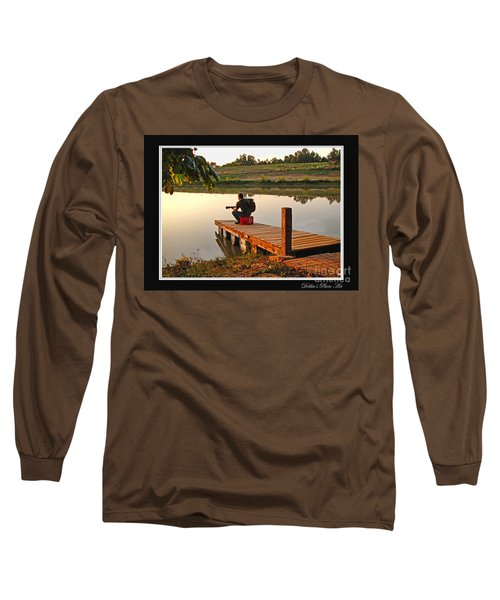 Lonely Guitarist Long Sleeve T-Shirt by Debbie Portwood
