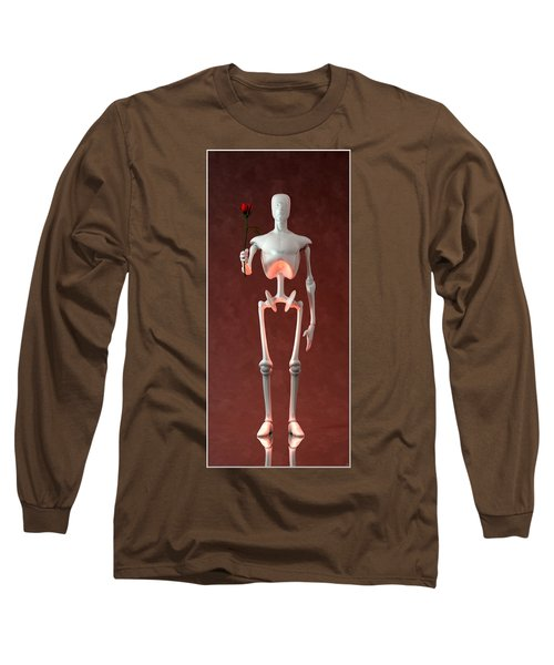 Long Sleeve T-Shirt featuring the digital art Lonely Robot... by Tim Fillingim