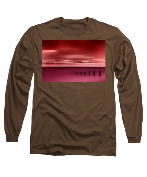 Long Red Sunset Long Sleeve T-Shirt