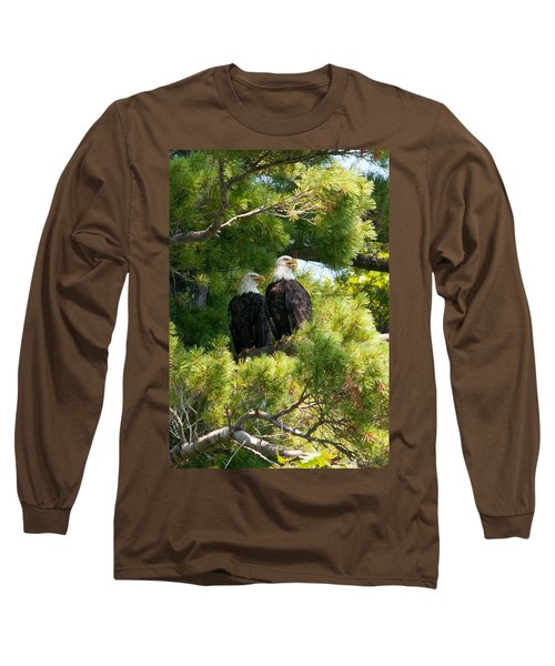 Long Sleeve T-Shirt featuring the photograph Look Over There by Brenda Jacobs