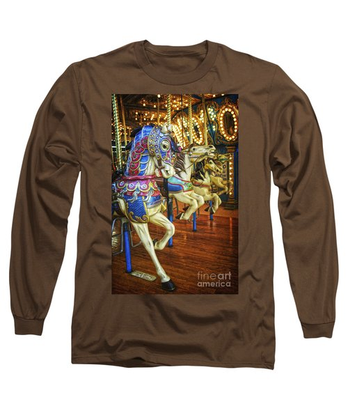 Long Sleeve T-Shirt featuring the photograph Dancing Horses by Debra Fedchin