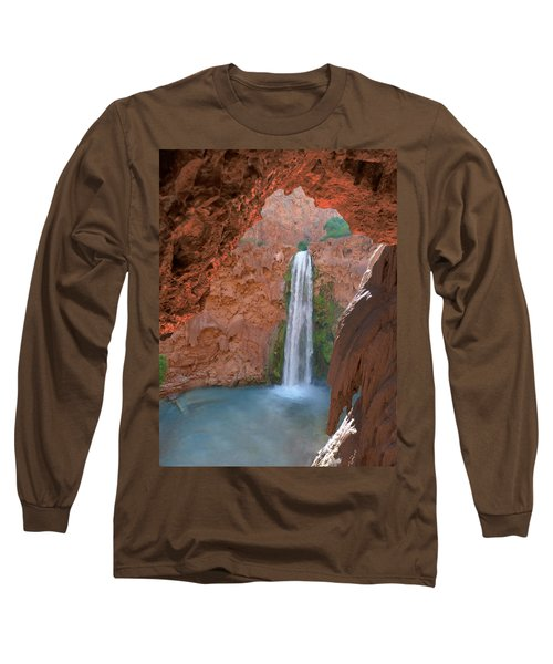 Looking Out From The Cave Long Sleeve T-Shirt by Alan Socolik