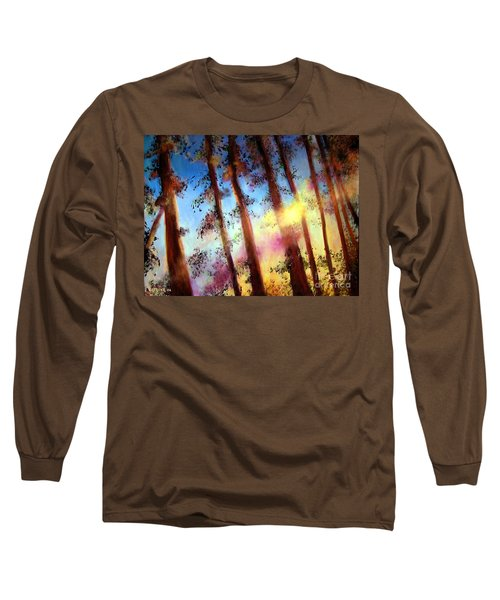 Long Sleeve T-Shirt featuring the painting Looking Through The Trees by Alison Caltrider