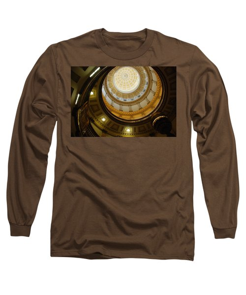 Looking Up The Capitol Dome - Denver Long Sleeve T-Shirt