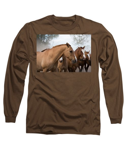 Los Caballos De La Estancia Long Sleeve T-Shirt
