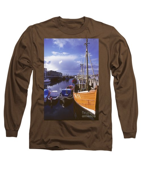 Long Sleeve T-Shirt featuring the photograph Lossiemouth Harbour - Scotland by Phil Banks
