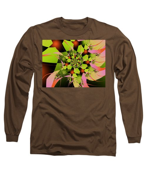 Long Sleeve T-Shirt featuring the digital art Loud Bouquet by Elizabeth McTaggart