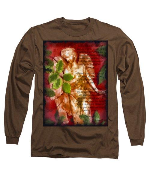 Love Never Fails 3 Long Sleeve T-Shirt by Angelina Vick