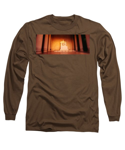 Low Angle View Of A Statue Of Abraham Long Sleeve T-Shirt by Panoramic Images