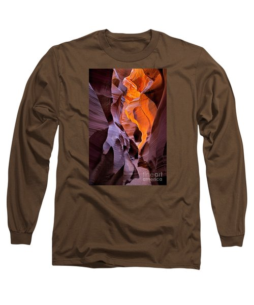Lower Antelope Glow Long Sleeve T-Shirt by Jerry Fornarotto
