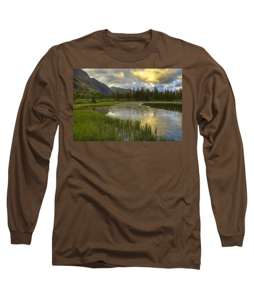 Long Sleeve T-Shirt featuring the photograph Lower Ice Lake by Alan Vance Ley