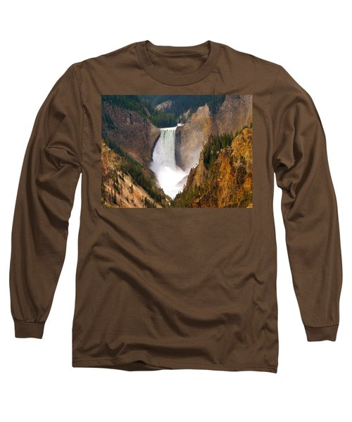 Long Sleeve T-Shirt featuring the photograph Lower Yellowstone Falls by Eric Tressler