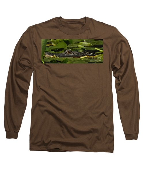 Long Sleeve T-Shirt featuring the photograph Lying In Wait by Vivian Christopher