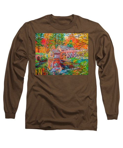 Mabry Mill In Fall Long Sleeve T-Shirt
