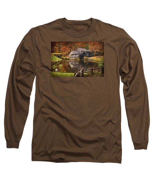 Mabry Mill Long Sleeve T-Shirt by Priscilla Burgers