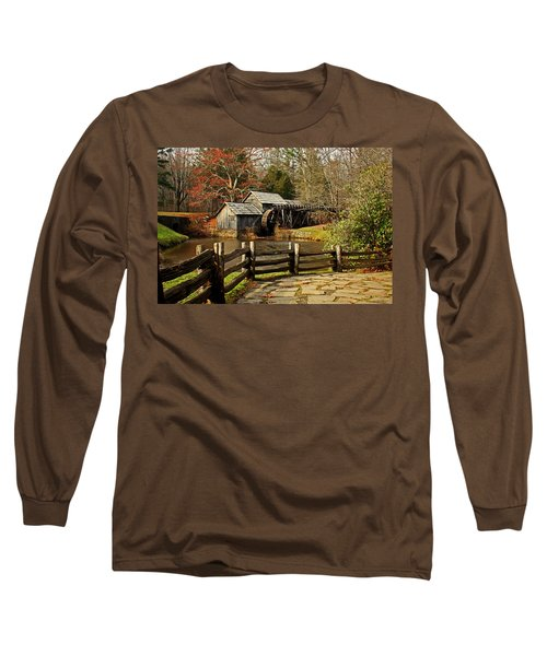 Long Sleeve T-Shirt featuring the photograph Mabry Mill by Suzanne Stout