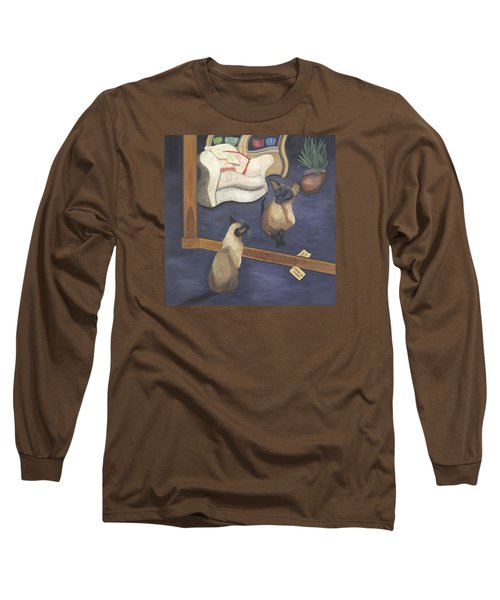 Long Sleeve T-Shirt featuring the painting Made In China by Karen Zuk Rosenblatt