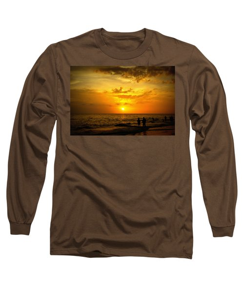 Long Sleeve T-Shirt featuring the photograph Madeira Sunset by Laurie Perry