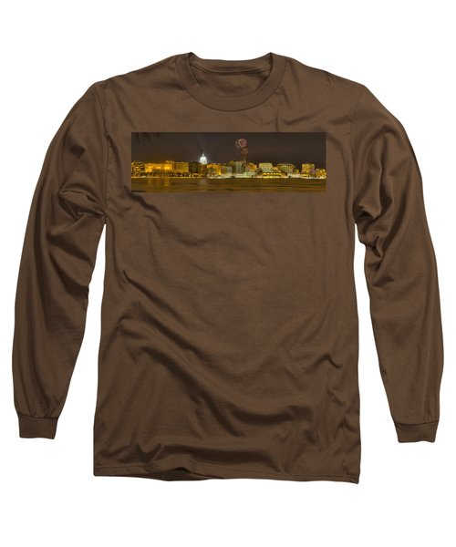 Madison Skyline New Years Eve Long Sleeve T-Shirt