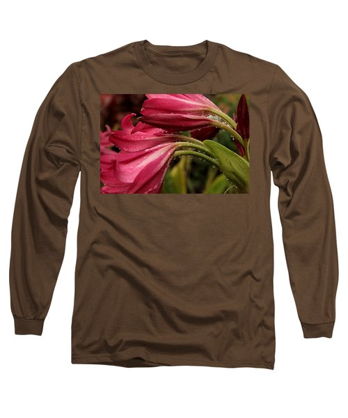 Long Sleeve T-Shirt featuring the photograph Magenta Rain by Greg Allore