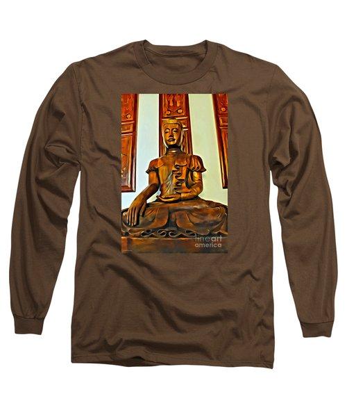 Majestic Buddha Long Sleeve T-Shirt