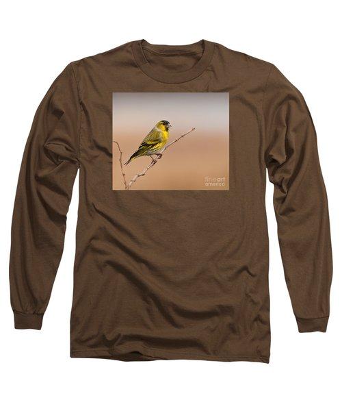 Male Eurasian Siskin Long Sleeve T-Shirt