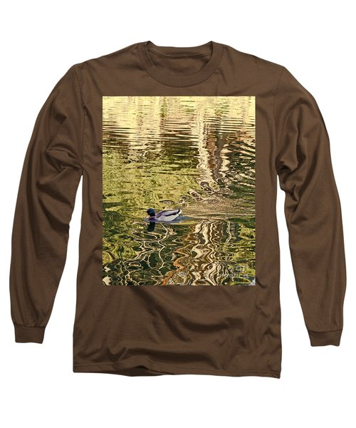 Mallard Painting Long Sleeve T-Shirt by Kate Brown