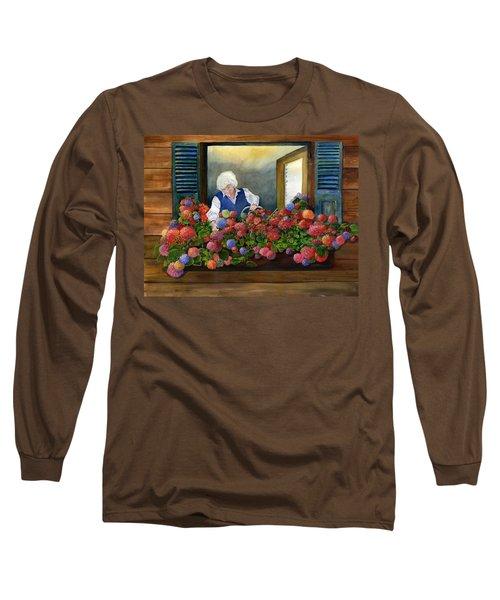 Mama's Window Garden Long Sleeve T-Shirt