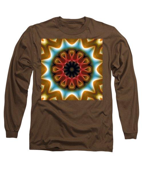 Long Sleeve T-Shirt featuring the digital art Mandala 100 by Terry Reynoldson