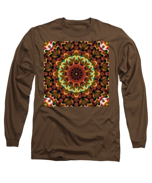 Long Sleeve T-Shirt featuring the digital art Mandala 71 by Terry Reynoldson