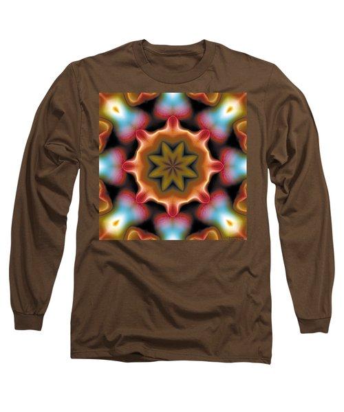 Long Sleeve T-Shirt featuring the digital art Mandala 94 by Terry Reynoldson