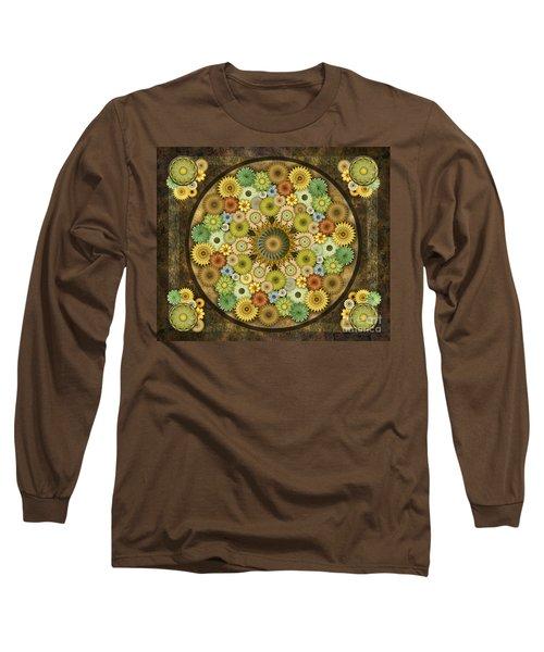 Mandala Stone Flowers Sp Long Sleeve T-Shirt