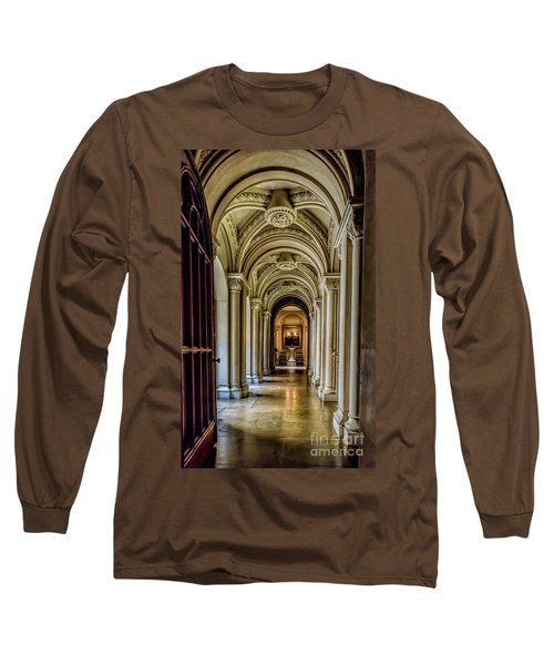 Mansion Hallway Long Sleeve T-Shirt by Adrian Evans