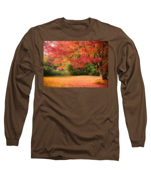 Maple In Red And Orange Long Sleeve T-Shirt