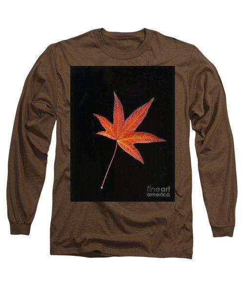 Maple Leaf On Black 2 Long Sleeve T-Shirt