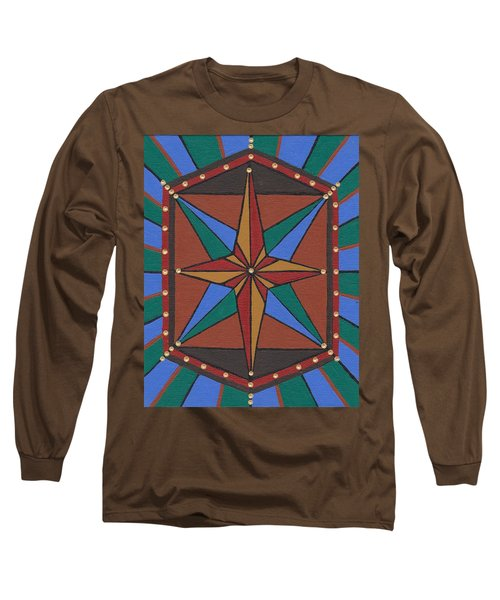 Long Sleeve T-Shirt featuring the painting Mariner Rose by Barbara St Jean