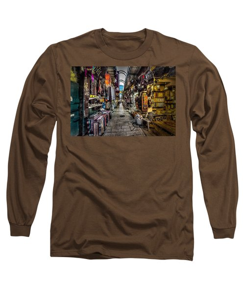 Market In The Old City Of Jerusalem Long Sleeve T-Shirt