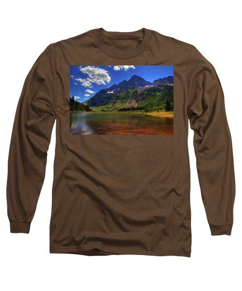 Long Sleeve T-Shirt featuring the photograph Maroon Bells by Alan Vance Ley