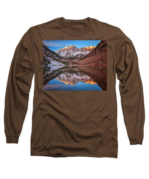 Maroon Bells Alpenglow Long Sleeve T-Shirt