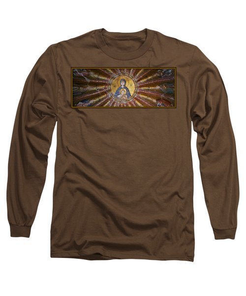 Blessed Virgin Mary And The Child Jesus Long Sleeve T-Shirt