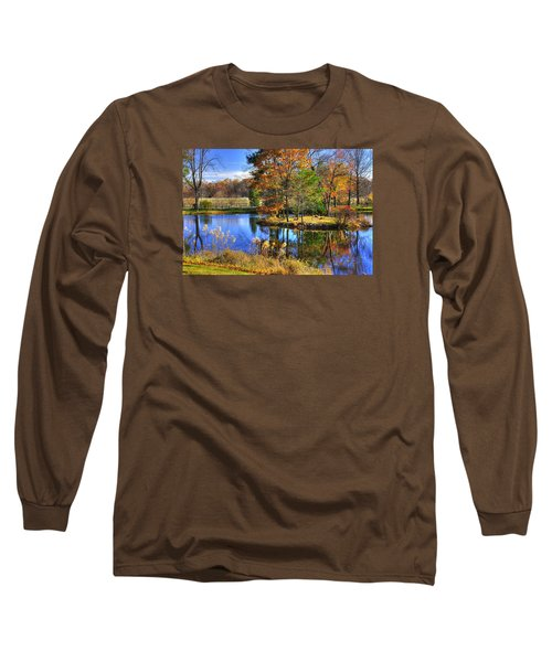 Maryland Country Roads - Autumn Respite No. 1 - Stronghold Sugarloaf Mountain Frederick County Md Long Sleeve T-Shirt by Michael Mazaika