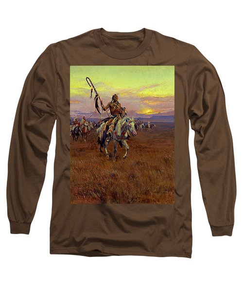 Medicine Man Long Sleeve T-Shirt by Charles Marion Russell