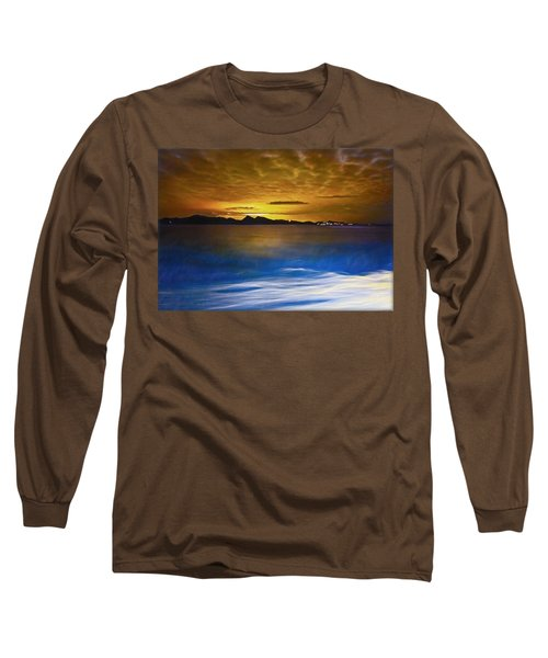 Mediterranean Sunrise Long Sleeve T-Shirt by Hanny Heim