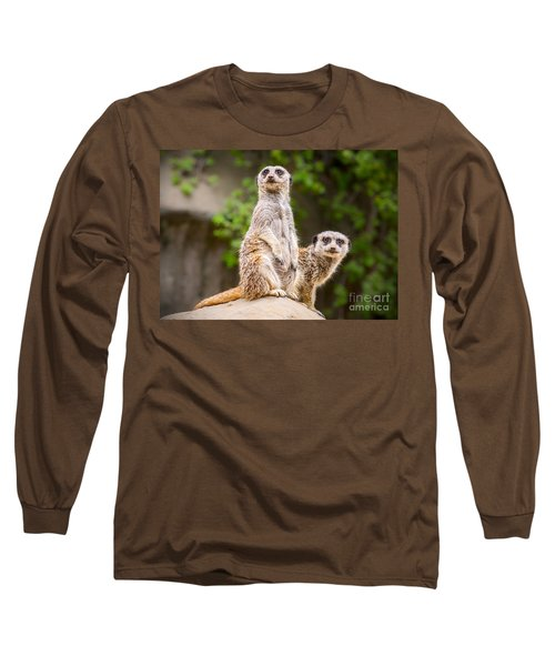 Meerkat Pair Long Sleeve T-Shirt