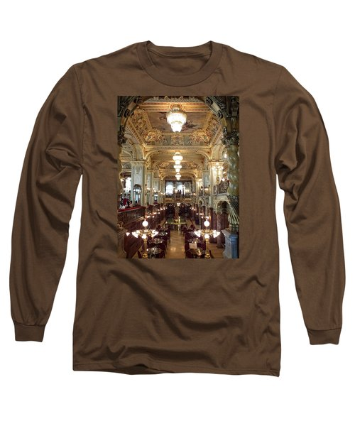 Meet Me For Coffee - New York Cafe - Budapest Long Sleeve T-Shirt by Lucinda Walter